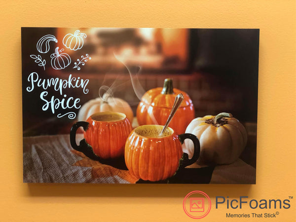 Photo Tiles, Acrylic Prints, Photo Wall Tiles, Wall Art, Wall Decor, Home Decor, Photo Prints, Pumpkin Spice PicFoams™ - PicFoams.com