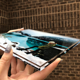 AcryliClears™ Clear Acrylic Glass Photo Tiles - 8x10