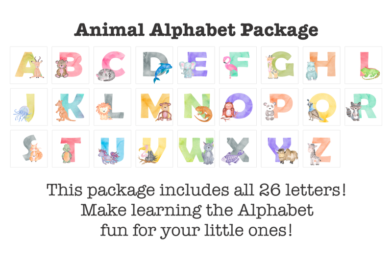 Animal Alphabet AcryliLetters™ Package