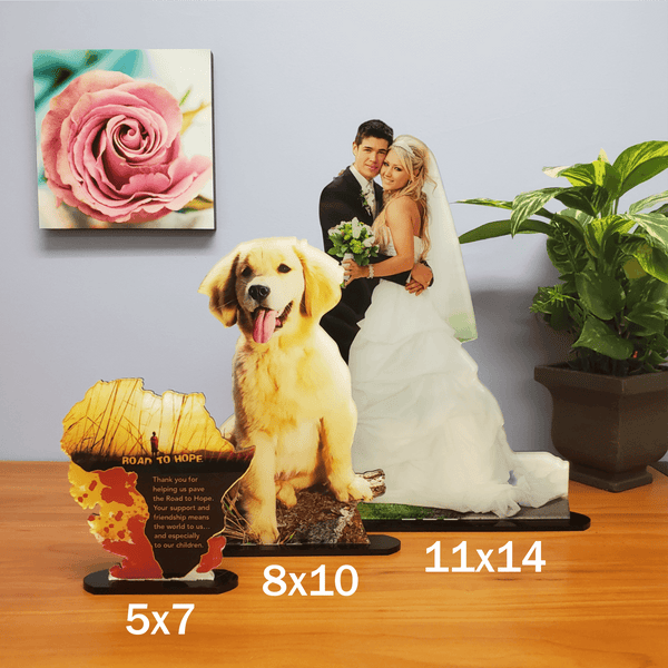 Photo Tiles, Acrylic Prints, Photo Wall Tiles, Wall Art, Wall Decor, Home Decor, Photo Prints, 5x7 AcryliCuts™ Custom Photo Statuettes - Vertical - PicFoams.com
