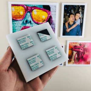 6x6 AcryliFrames™ Photo Tiles - White