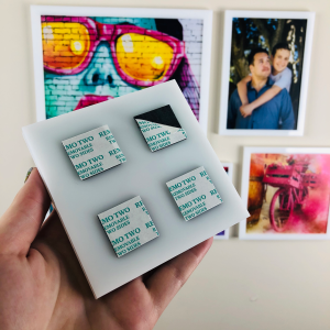 3x5 AcryliFrames™ Photo Tiles - White