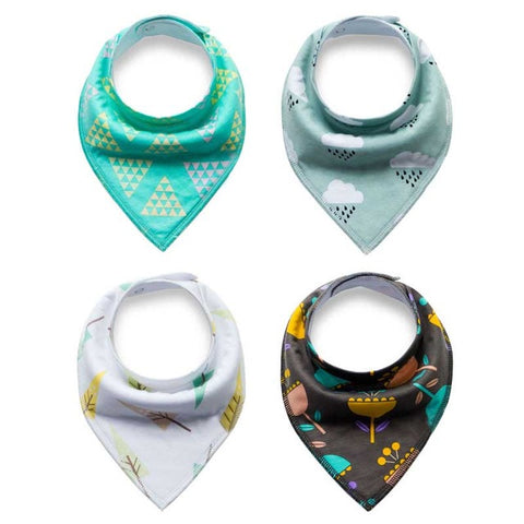 4Pcs Baby Fashion Bibs
