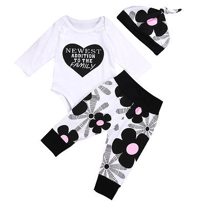 Baby Girls Outfit Set 3Pcs