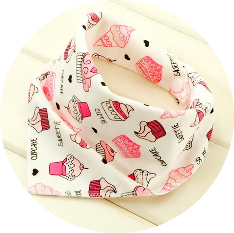 Triangle Cotton Baby Bandana Bibs