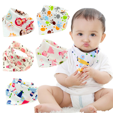 10 Pieces Cotton Bandana Bibs
