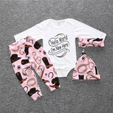 3-Pcs Long Sleeved Baby Cotton Set