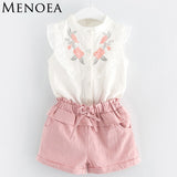 Floral 2Pcs Shorts Suit + Belt