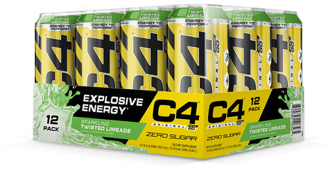Cellucor C4 On the Go, Sparkling Twisted Limeade, 12 (16fl oz.) Cans