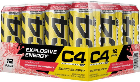 Cellucor C4 On the Go, Sparkling Strawberry Watermelon, 12 (16fl oz.) Cans