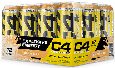 Cellucor C4 On the Go, Sparkling Tropical Blast, 12 (16 fl oz.) Cans