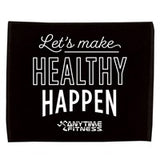 AF - Let's Make Healthy Happen - Jewel Collection Soft Touch Sport Towel