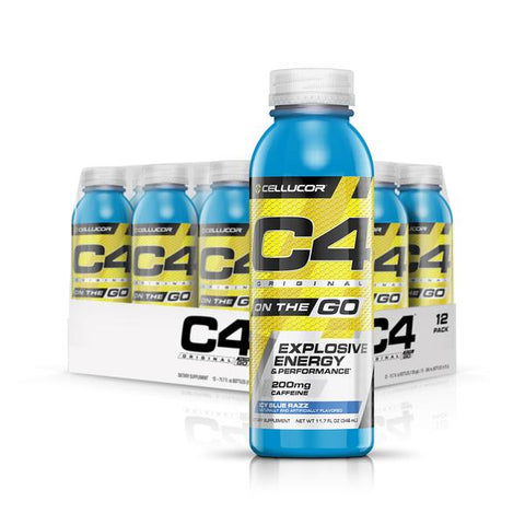 Cellucor C4 On the Go, Sparkling Frozen Bombsicle, 12 (16fl oz.) Cans