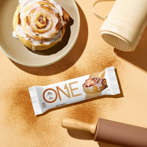 ISS Research One Bar, Cinnamon Roll, 12 (2.12 OZ) Bars