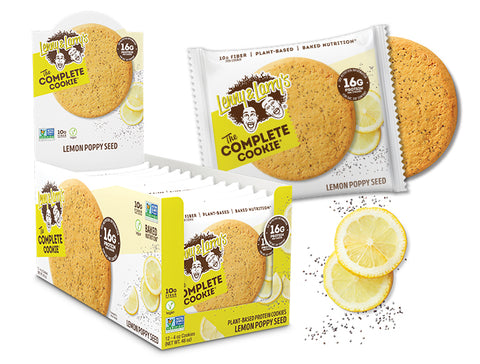 Lenny & Larry's The Complete Cookie, Lemon Poppy Seed, 12 - 4 oz Cookies
