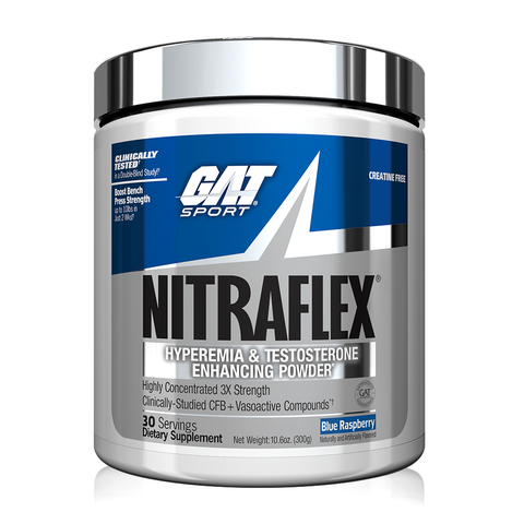 GAT Nitraflex, Blue Rasberry, 30 Servings (300g)