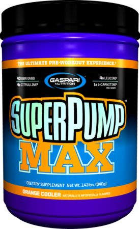 Gaspari Nutrition SuperPump MAX, Orange Cooler, 40 Servings