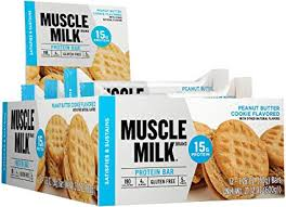 Cytosport Muscle Milk Bar, Peanut Butter Cookie, 12 - 1.76 oz. Bars