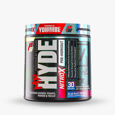 Pro Supps Mr. Hyde Nitro X, Blue Razz Popsicle, 30 Servings