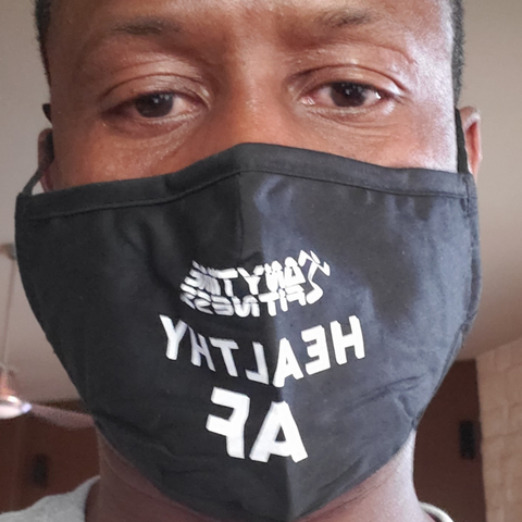 "Anytime Fitness ""Healthy AF "" Mask"