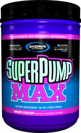 Gaspari Nutrition SuperPump MAX, Grape Cooler, 40 Servings