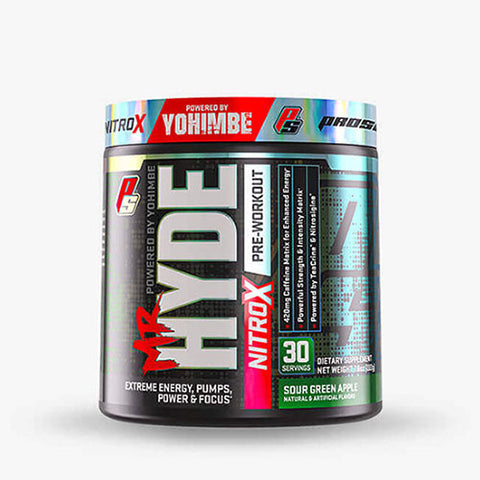 Pro Supps Mr. Hyde Nitro X, Sour Green Apple, 30 Servings