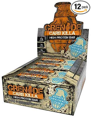 Grenade Carb Killa, White Chocolate Cookie, 12- 2.12 oz bars