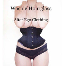 Load image into Gallery viewer, BLACK WASPIE HOURGLASS