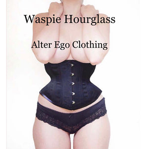 BLACK WASPIE HOURGLASS