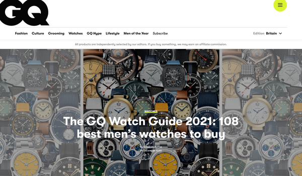 GQ Watch Guide 2021
