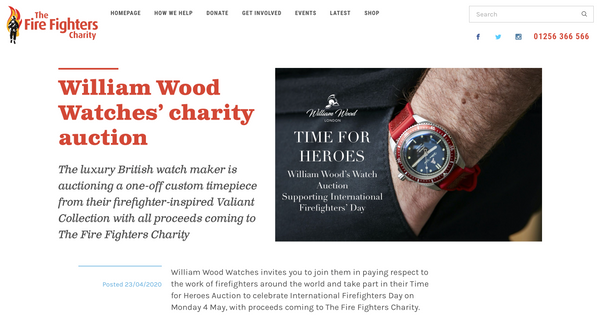 International Firefighters' Day Auction