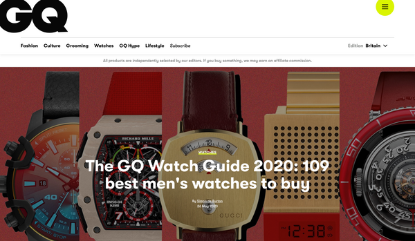 GQ Best Men's Watches 2020