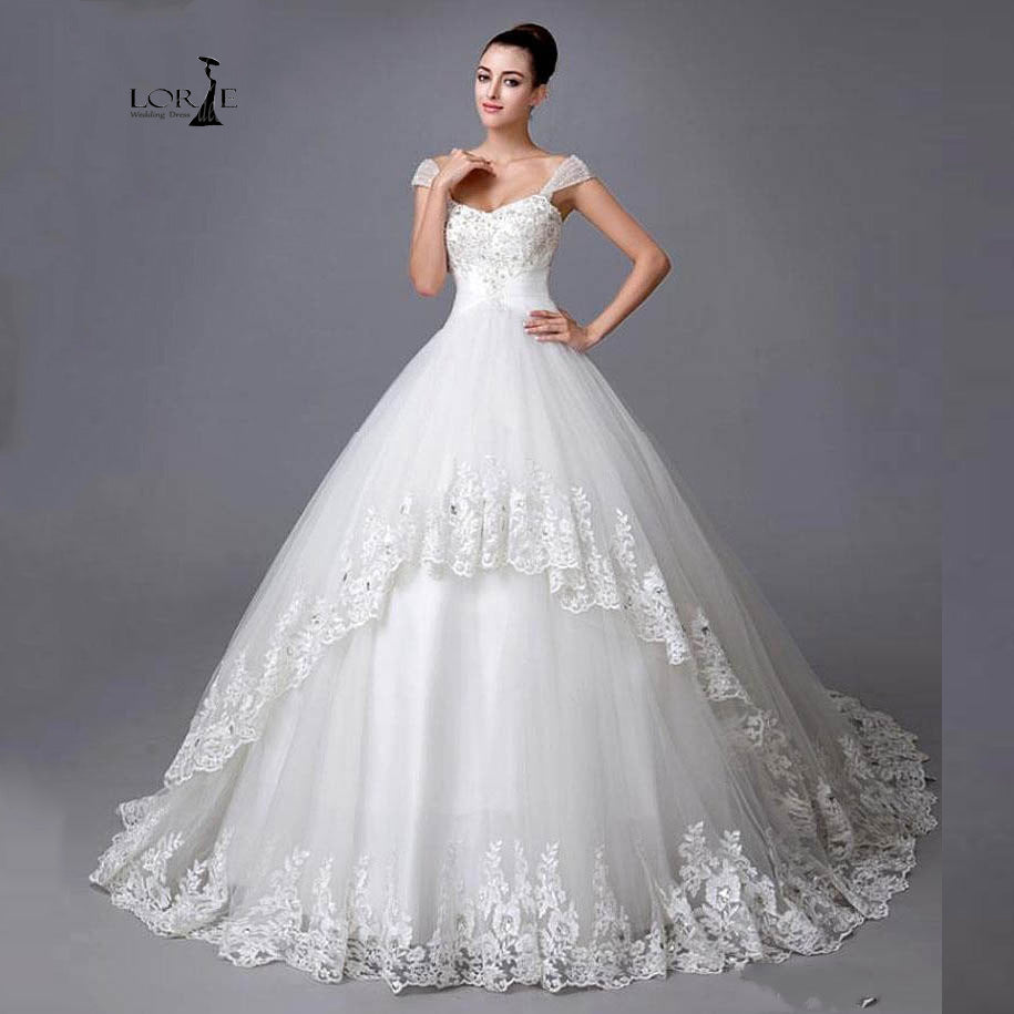 c1eb44133868aa Load image into Gallery viewer, Princess Style Wedding Dress with Beading,  Lace Appliques ...