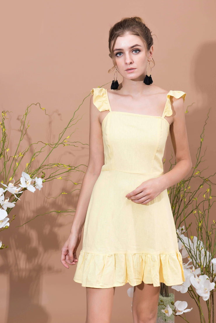 été Frill Short Dress