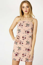 Floral Tied Back Dress