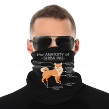 Load image into Gallery viewer, Anatomy Of A Shiba Inu Face Mask