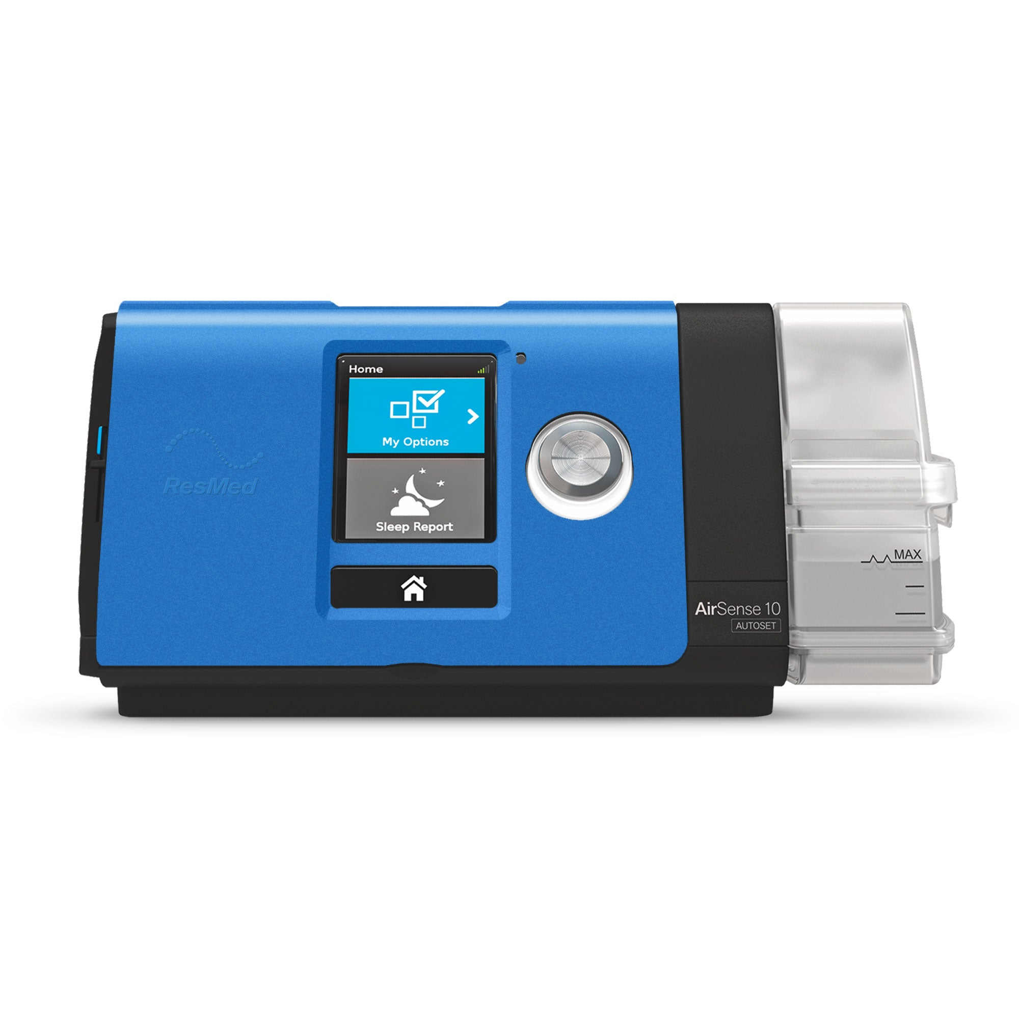 ResMed AirSense 10 with Lofta blue faceplate.