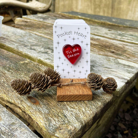 Christmas Pocket Heart - Stars - 12 Sayings to choose from