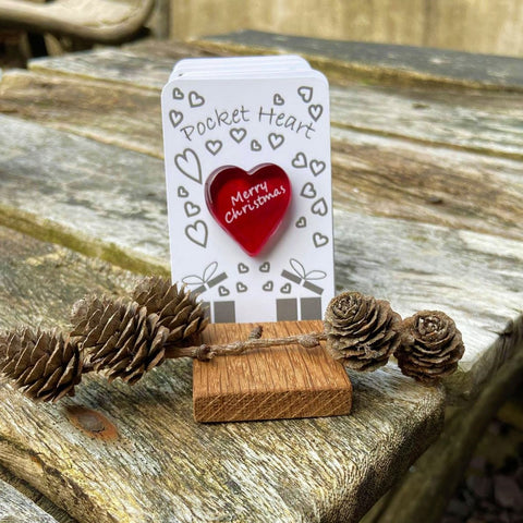 Christmas Pocket Heart - Present - 12 Sayings to choose from