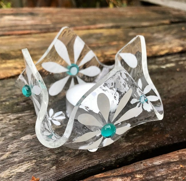 Simply Daisy T-Light - Aqua