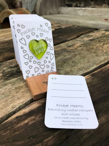 Good Wishes Pocket Heart - Good Luck