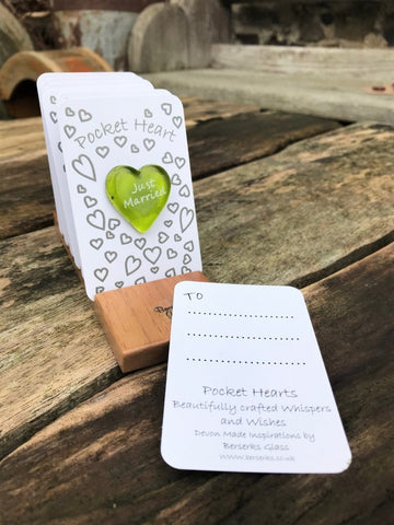 Love Pocket Heart - Green - Just Married