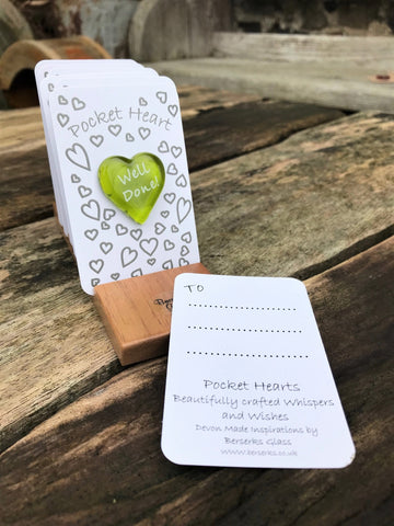 Good Wishes Pocket Heart - Well Done