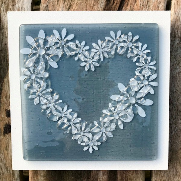 Daisy Wall Art Panel - Medium - Grey