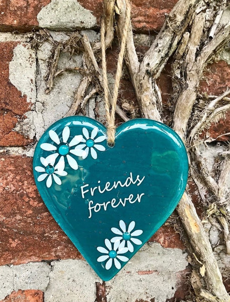 Inspired Sayings Hanging Daisy Heart - Blue
