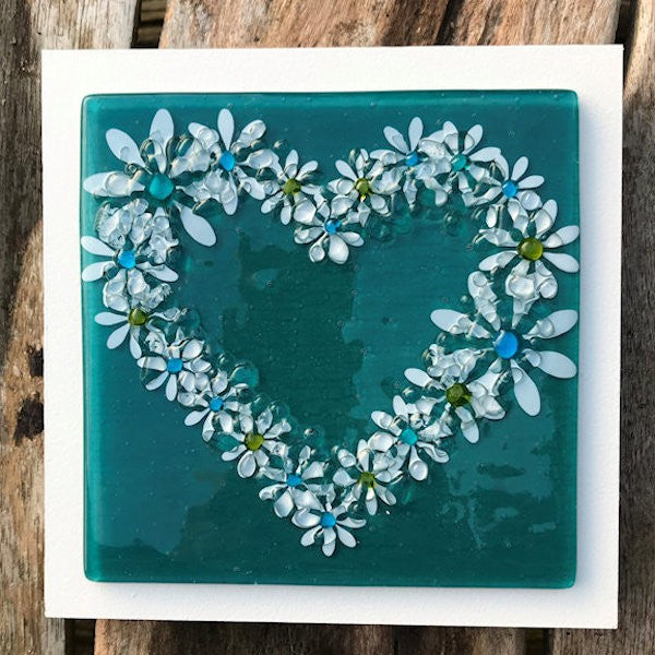 Daisy Wall Art Panel - Medium - Jade