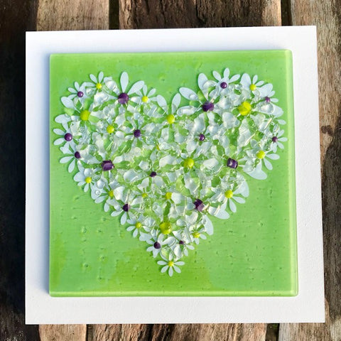 Daisy Wall Art Panel - Large - Lime