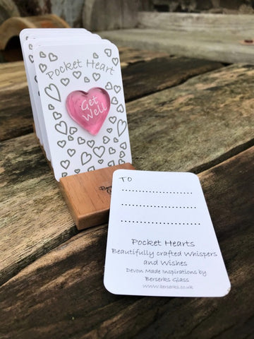 Good Wishes Pocket Heart - Get Well
