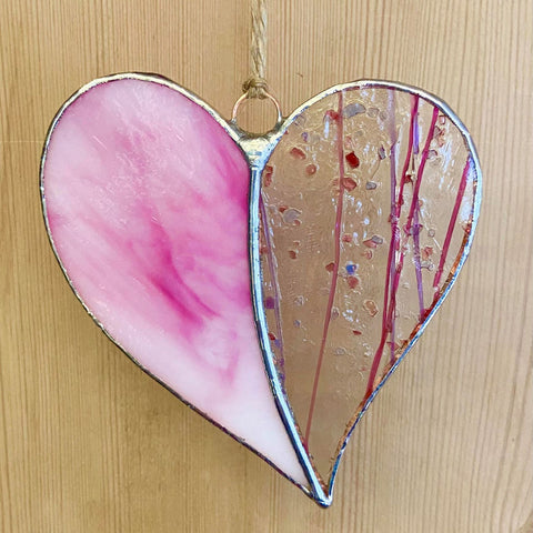 New for 2021 Stained Glass Heart - Lovely Pink!