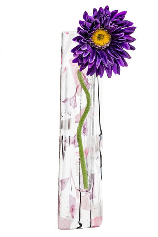Wall Hanging Flower Pocket - Purple